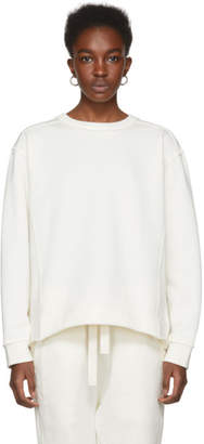 Jil Sander Off-White Zippered Side Sweatshirt