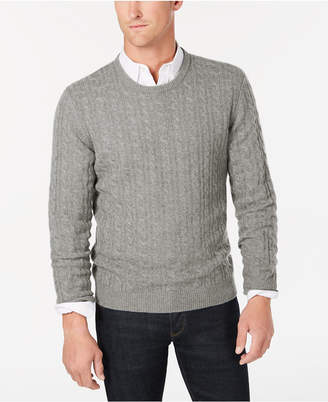 Club Room Men Cable-Knit Cashmere Sweater