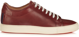 PAUL SMITH Nastro striped-back low-top leather trainers $341 thestylecure.com