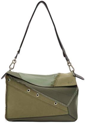 Loewe Khaki Multi-Tone XL Puzzle Bag