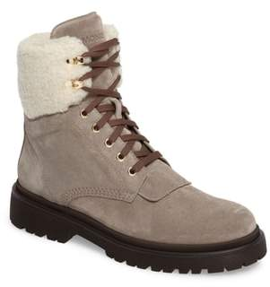 Moncler Patty Scarpa Faux Shearling Cuff Boot