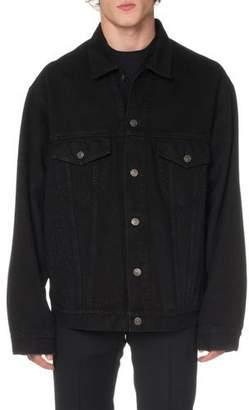 Balenciaga Men's Speed Applique Jean Jacket