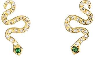 Ileana Makri Women's Little Snake Stud Earrings