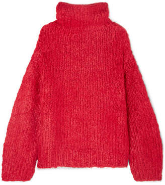 Elizabeth and James Hedda Silk And Cashmere-blend Sweater - Crimson