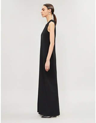 The Row Ianni split-hem stretch-jersey maxi dress