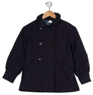 Little Marc Jacobs Girls' Collared Double-Breasted Coat