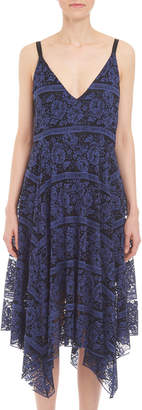Romeo & Juliet Couture Two-Tone Lace Midi Dress