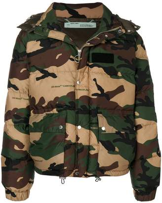 Off-White camouflage padded jacket