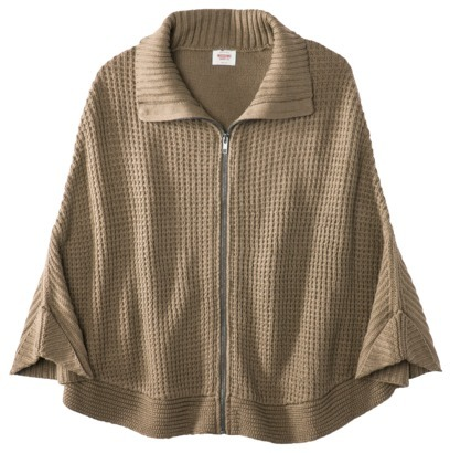 Mossimo Juniors Textured Zip Poncho - Assorted Colors