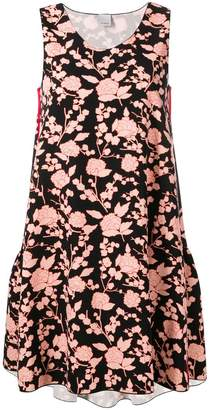 Pinko floral print flared mini dress