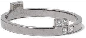 Ileana Makri Oxidized 18-Karat White Gold Diamond Ring