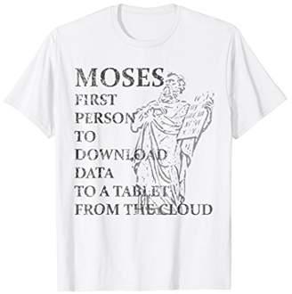 Funny Moses Shirt Christian Praise Commandments Humor Tee