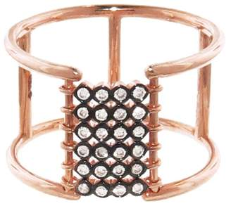 Yannis Sergakis Adornments Bezel Set Diamond Bar Charnieres Ring - Rose Gold