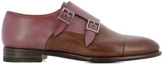 Santoni Multicolor Leather Loafers