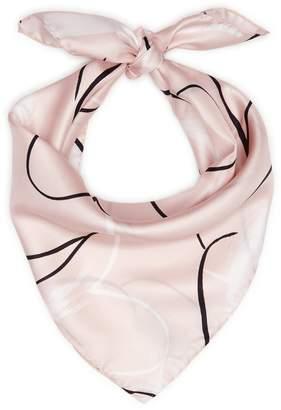 Reiss Twiggy Printed Silk Scarf