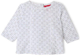 Sprout NEW Girls Long Sleeve Top White