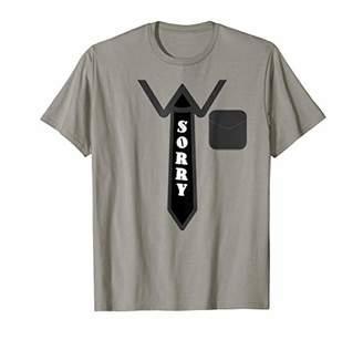 Formal Apology Sorry T-Shirt Funny Pun Halloween Costume