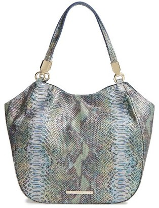 Brahmin Seville Marianna Leather Tote - Blue/green $365 thestylecure.com