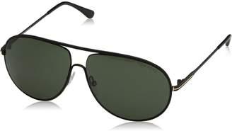 Tom Ford Men's TF450 Cliff 02N Matte Black Green Aviator Sunglasses 61mm