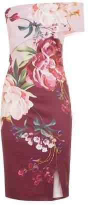 Ted Baker Irlina Floral One-Shoulder Dress