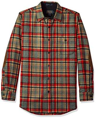 Pendleton Men's Long Sleeve Button Front Fitted Trail Shirt