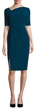L.K. Bennett Saskia Asymmetrical Sheath Dress $395 thestylecure.com