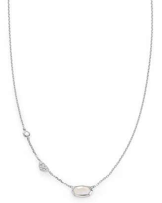Kendra Scott Aryn Pendant Necklace in Rainbow Moonstone and 14k White Gold