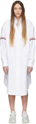 Thom Browne White Armbands Shirt Dress