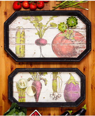 Twos Company Two's Company Farm To Table Set of 2 Gallery Trays Includes 2 Sizes