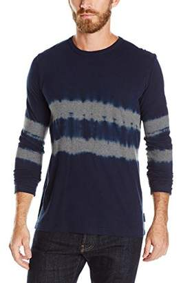 French Connection Men's Tie Dye Mountain Long Sleeve Shirt