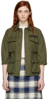 R 13 Green Shrunken Abu Jacket