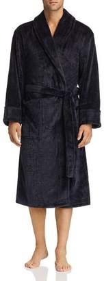 Daniel Buchler Debossed Plaid Plush Robe