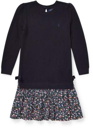 Ralph Lauren Kids Cotton-Blend Sweater Dress