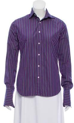 Ralph Lauren Black Label Striped Long Sleeve Button-Up