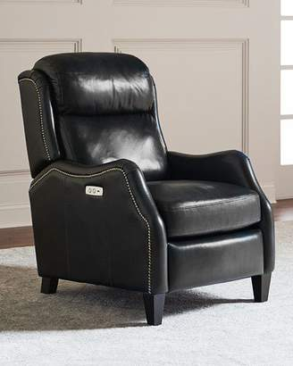 Bernhardt Cleo Leather Powered Recliner Chair