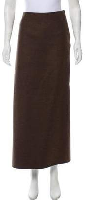 The Row Virgin Wool Midi Skirt