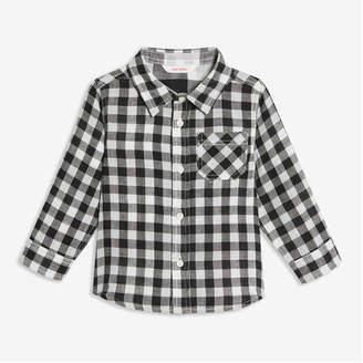 Joe Fresh Baby Boys' Plaid Shirt, Black (Size 3-6)
