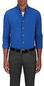 Maria Santangelo Men's Cotton Twill Button-Down Shirt-Lt. Blue Size L