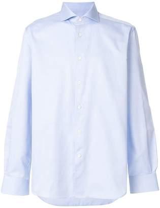 Corneliani plain curved hem shirt