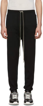 Rick Owens Black Joggers Lounge Pants