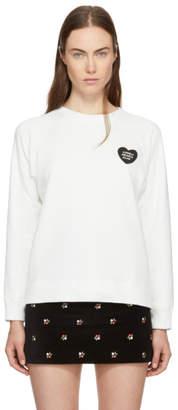 ALEXACHUNG Ivory Lonely Hearts Club Badge Sweatshirt
