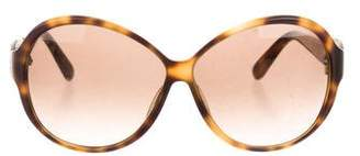 Salvatore Ferragamo Embellished Oversize Sunglasses