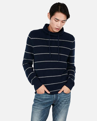 Express Stripe Textured Funnel Neck Sweater