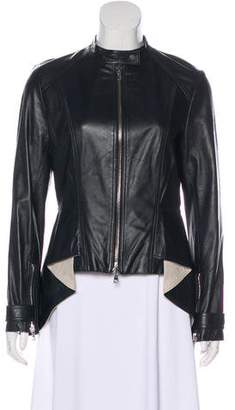 Robert Rodriguez Asymmetrical Leather Jacket