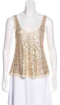 Calypso Sleeveless Sequin Embellished Top