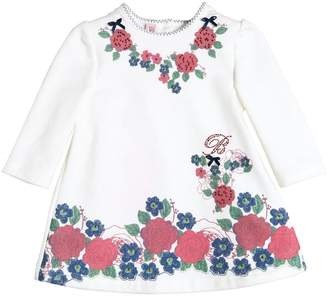 Miss Blumarine Floral Printed Cotton Dress