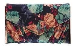 Nina Liddie Printed Velvet Envelope Clutch
