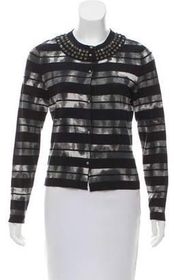 Basler Embellished Stripe Cardigan