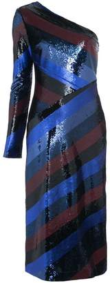 Diane von Furstenberg one shoulder bias sequin dress