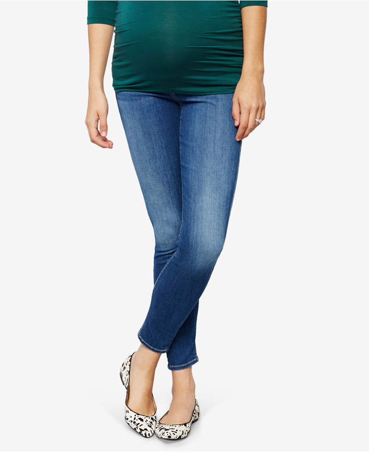 7 For All Mankind7 For All Mankind Maternity Medium Wash Skinny Jeans